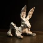 Glyphs – aluminum, Bunny facing right