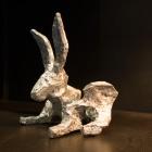 Glyphs – aluminum, Bunny facing left