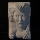 Etruscan: Limestone Sculpture by Paulo Ferreira – Front