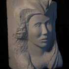 Etruscan: Limestone Sculpture by Paulo Ferreira - Left View