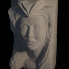 Etruscan: Limestone Sculpture by Paulo Ferreira - Right View