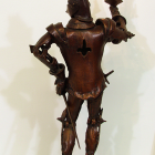 Knight Light - lost wax bronze, back view