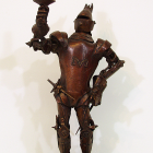 Knight Light - lost wax bronze, front view