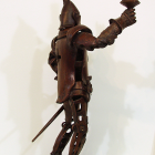 Knight Light - lost wax bronze, back side view