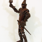 Knight Light - lost wax bronze, side view