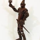 Knight Light - lost wax bronze, side view