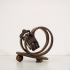 PMS Cradle - lost wax bronze, side view; commission by Robert Brittan