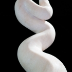 Cobra: Marble Sculpture by Paulo Ferreira - top view from back