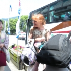 Omachi arrival: Hiromi-San (Left) and Sharon Gardner (Right)