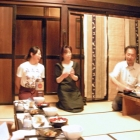 Oda-San presents the host and daughter of our dinner