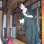 Our dinner hostess introduces the 5,000 kinds of sake to be served
