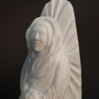 The Virgin Everywhere: Marble Sculpture by Paulo Ferreira - Detail right side