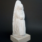 The Virgin Everywhere: Marble Sculpture by Paulo Ferreira - Left View
