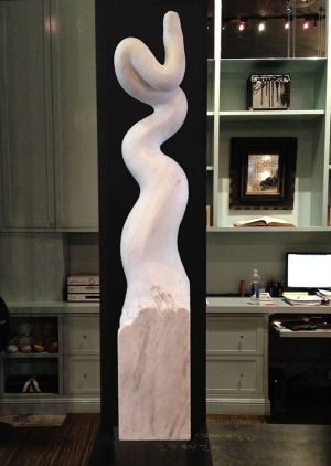 Cobra: Marble Sculpture by Paulo Ferreira