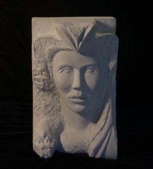 Etruscan: Liimestone Sculpture by Paulo Ferreira